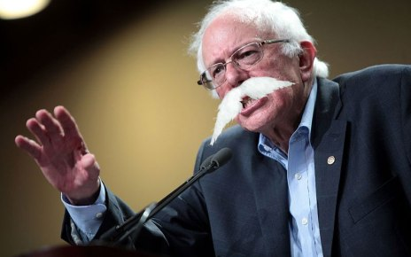 Bernie Sanders Sprouts Huge Mustache During