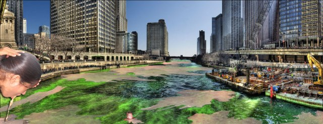 Green Chicago River Full of Vomit by 10 AM