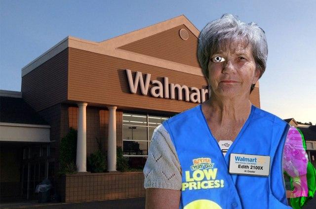 Walmart Implants Elderly Greeters With Robotic Parts
