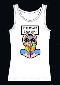 Grandma Hippie Tank Top White