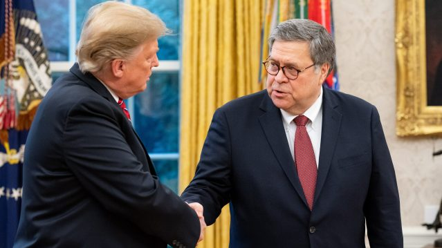 AG Barr sent federal judges white supremacist themed gifts