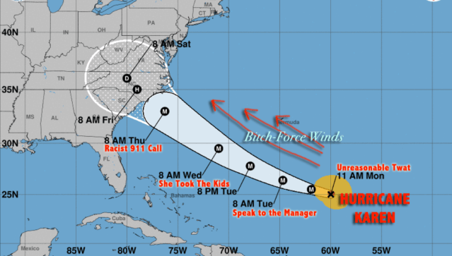 Tropical Storm Karen upgraded to category 'I Demand to Speak to the Manager' hurricane