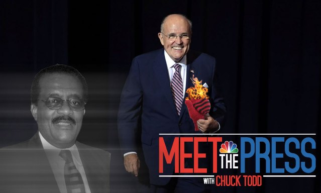 Rudy Giuliani says he's hired the ghost of Johnnie Cochran as his defense lawyer