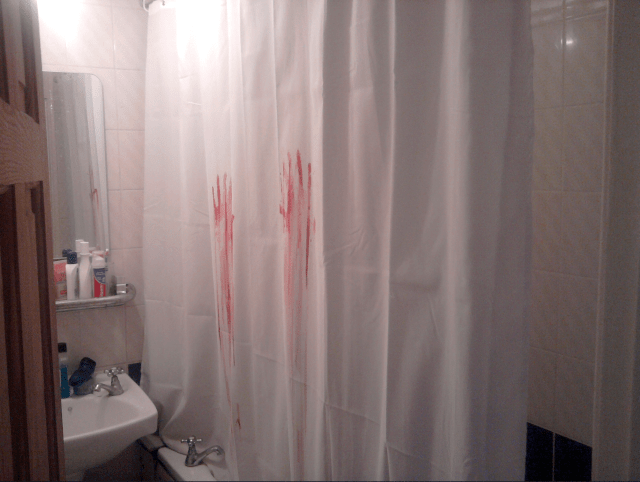 Resolution: Let's all stop checking behind the shower curtains before going pee in 2020
