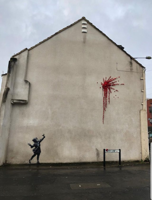 Banksy Demolishes Ex's Entire House Just Hours After Painting It