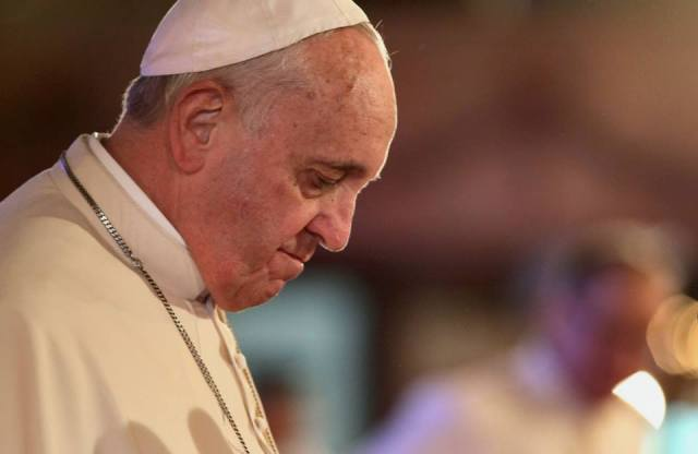 Lonely Pope Encourages Couples to Invite Single People for a Three Way on Valentine's Day