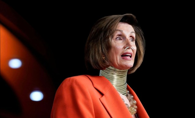 Nancy Pelosi, Democrats Tricked Into Wearing African Neck Rings, Septum Piercings