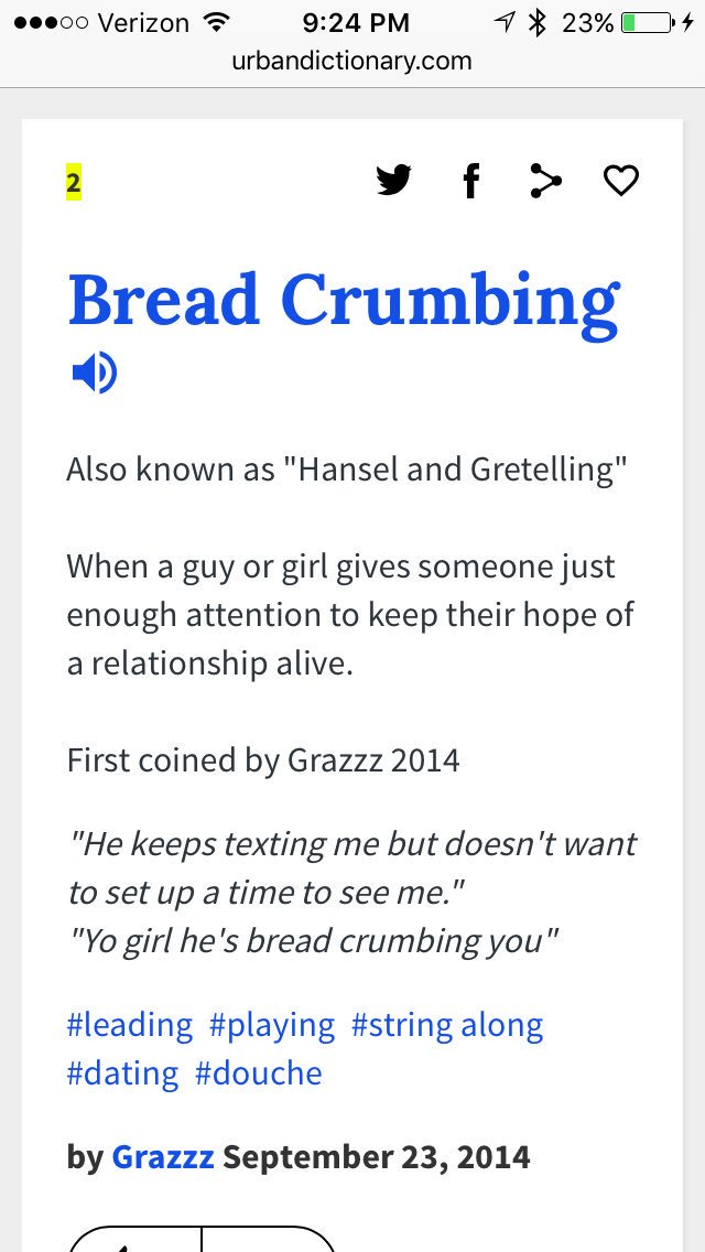 dating game urban dictionary