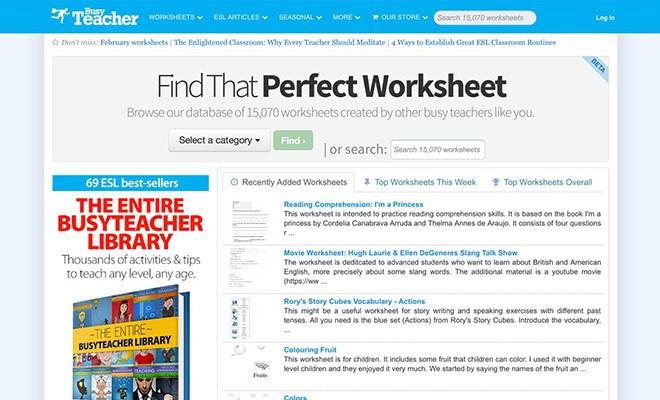 useful esl websites 5 - BusyTeacher