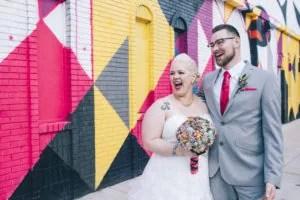 Mocad Detroit bride and groom