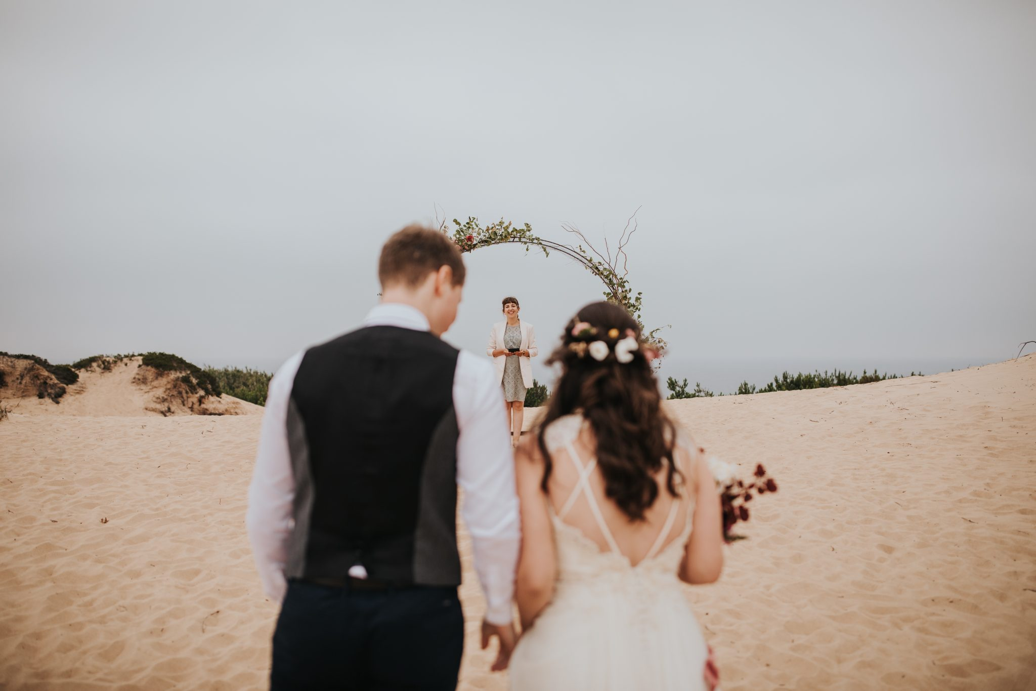 Eloping on the beach in Portugal