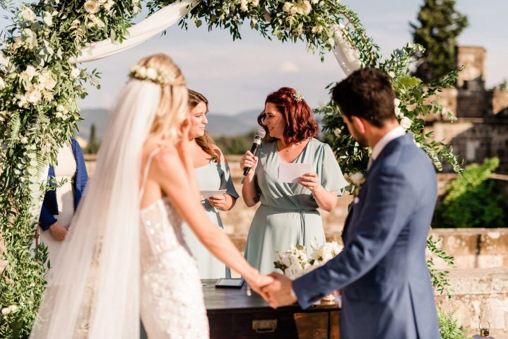 Working with a wedding celebrant means you have a professional guiding you, along with the fun of including family and friends