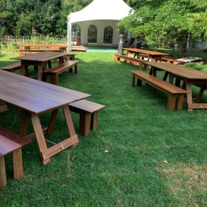 Wedding and event hire, Trestle tables for wedding reception