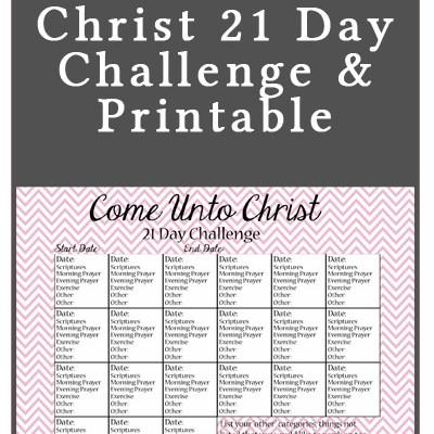 Come Unto Christ 21 Day Challenge