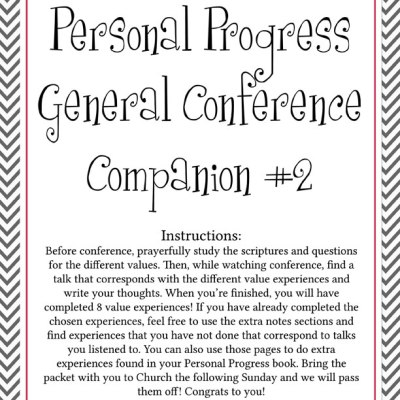 Personal Progress Conference Packet #2 & Bingo Cards