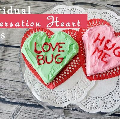 Individual Conversation Heart Cakes