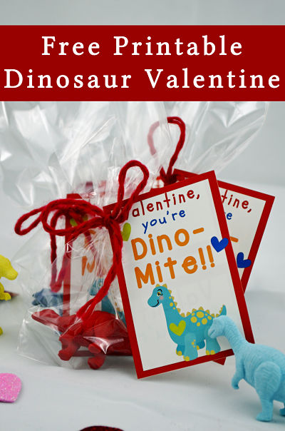 Dino Mite Valentines Day Dinosaur Printable Your