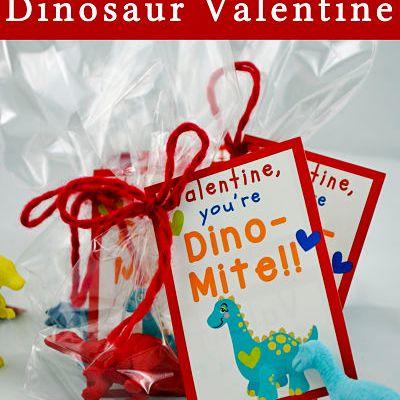 Dino-Mite Valentine's Day Dinosaur Printable