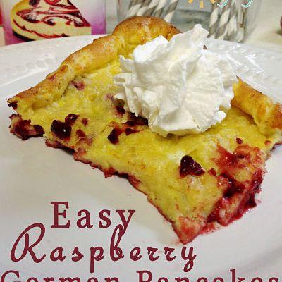 Raspberry Filled German Pancakes