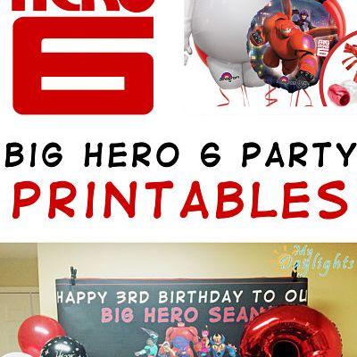Big Hero 6 Party Printables