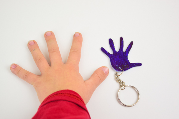 DIY Child's Handprint Keychain