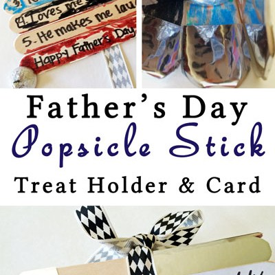 Father's Day Popsicle Stick Card