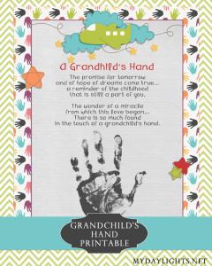 Grandchild's Hand Printable