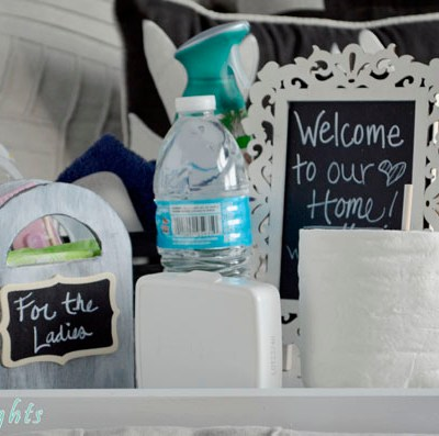 DIY Houseguest Survival Tray