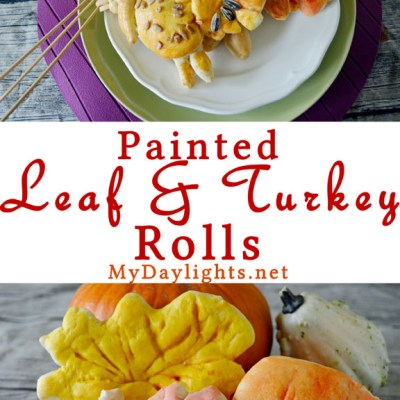 Painted Leaf & Turkey Rolls