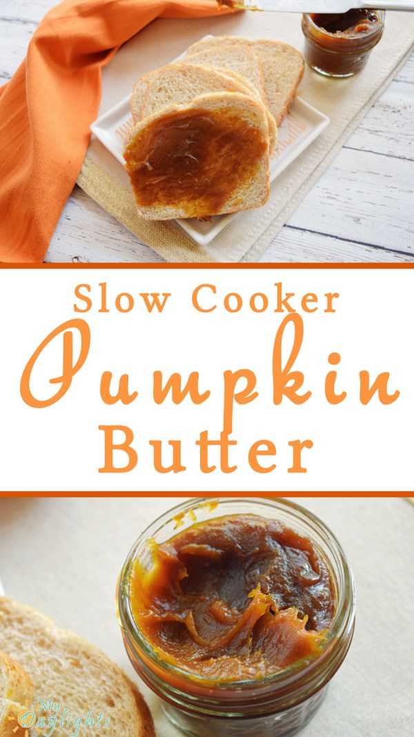Slow Cooker Pumpkin Butter is a delicious fall treat, perfect for homemade rolls,Thanksgiving feasts, and holiday parties! Bake a batch and give it as a gift too!