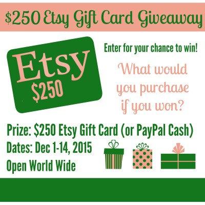 Christmas $250 Etsy Gift Card Giveaway!