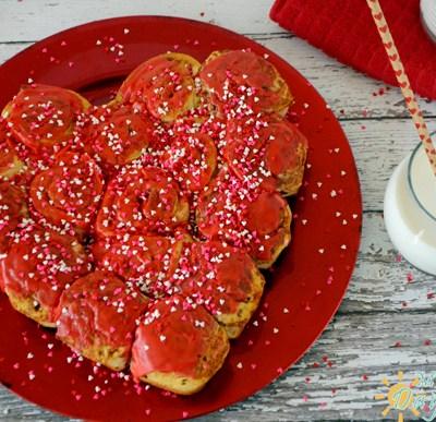 Valentine's Day Cinnamon Rolls