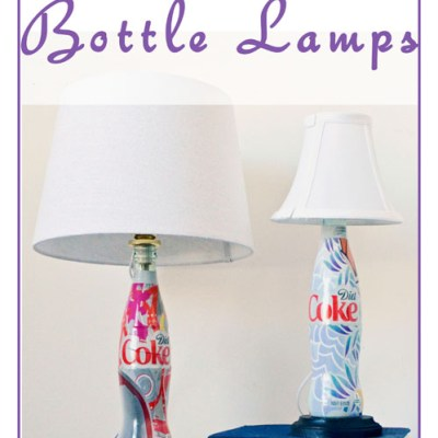 DIY Diet Coke Bottle Lamps