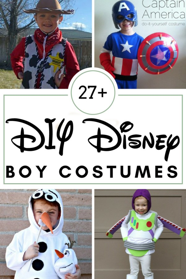 27+ DIY Disney Boy Costumes: Make a fun costume for your little boy to play dressup or for Halloween!