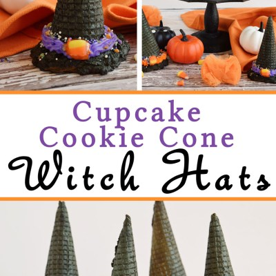 Cupcake Cookie Cone Witch Hats