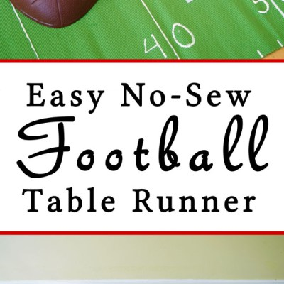 DIY Football Tablerunner