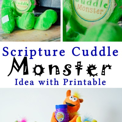 Scripture Cuddle Monster Idea & Printable