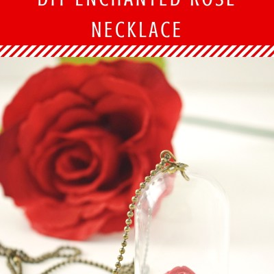 Beauty & The Beast Enchanted Rose Necklace
