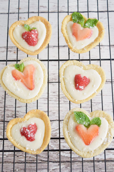 Sweetheart Fruit Tarts