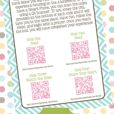Young Women Divine Nature QR Code Personal Progress Scavenger Hunt