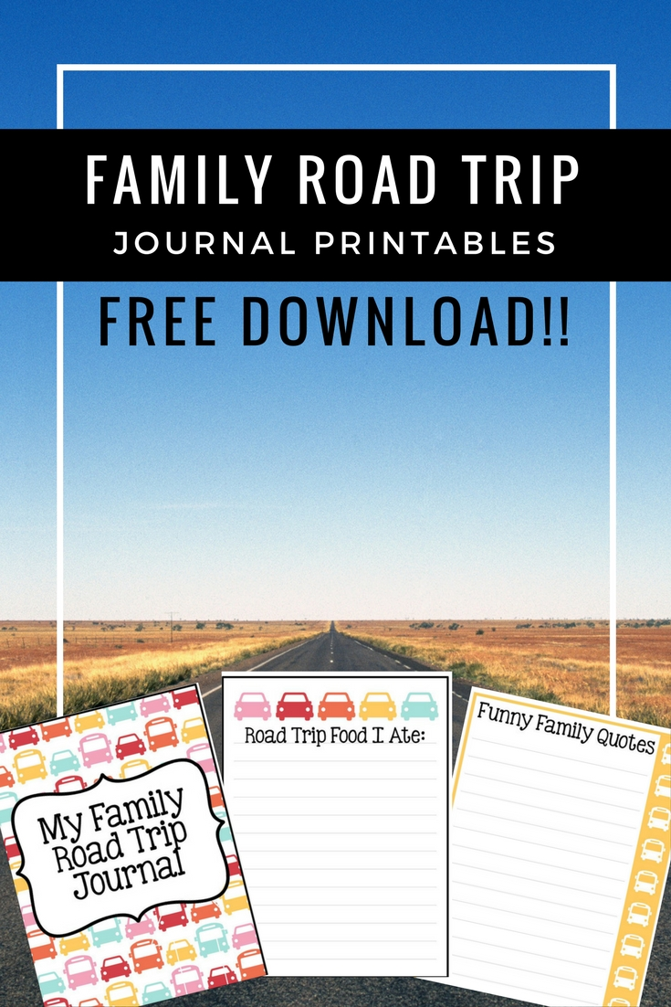 photograph relating to Journal Printables Free identified as Summer months Family members Highway Family vacation Magazine Printable - Your Every day Family members