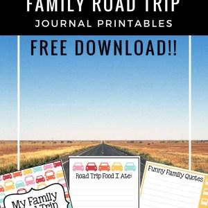 Summer Family Road Trip Journal Printable