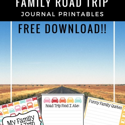 Summer Family Road Trip Journal Printable
