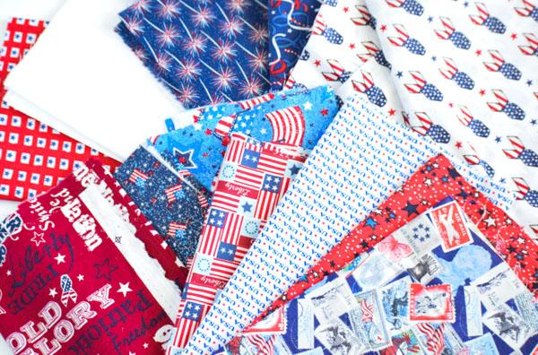 Patriotic Rag Tie Banner