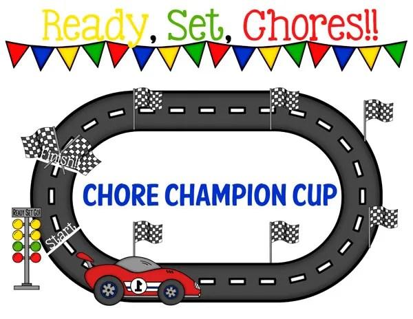 Cars 3 Race Track Chore Chart