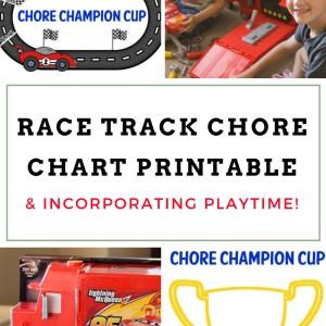 Race Track Chore Chart Printable