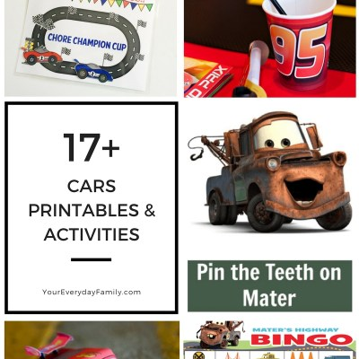 Cars 3 Printables & Activities