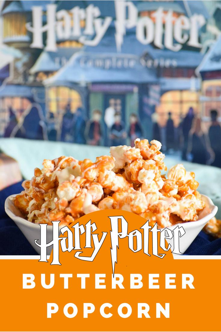 Harry Potter Inspired Butterbeer Popcorn
