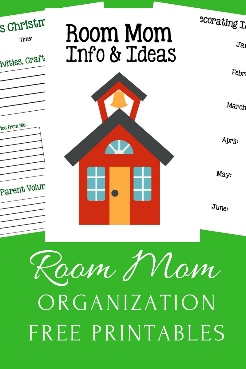 Room Mom Organization Printables: use these free printables to help keep you organized this school year!