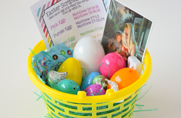 Holy Week Easter Story Eggs with Free Printable